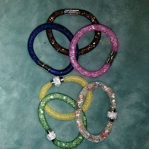 Jewelry - MESH AND CRYSTAL MAGNETIC BRACELETS